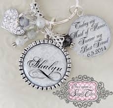 best friend wedding gift of honor gift wedding key chain or necklace inspirational