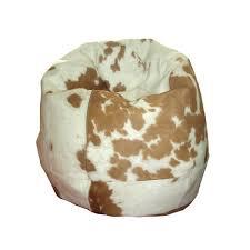 sitzsack big bag cowhide bean bag brown white in two sizes junior and big