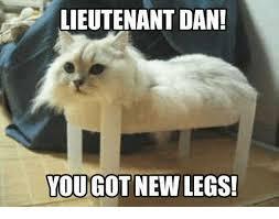 New Grumpy Cat Meme - lieutenant dan you got new legs grumpy cat meme on me me