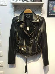 cool motorcycle jackets online get cheap womens black jacket with gold buttons and zippers