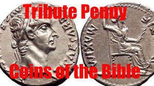 tribute penny render unto caesar jesus christ coin