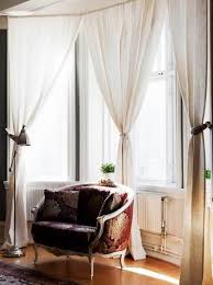 enchanting window curtain style having gold and red color feat