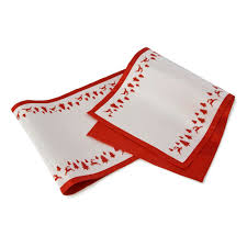 red and white table runner yuletide red white table runner roman at home