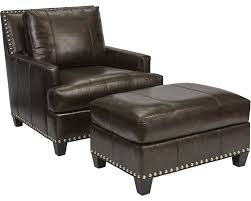 Club Chairs With Ottoman Beau Ottoman Leather Thomasville Furniture