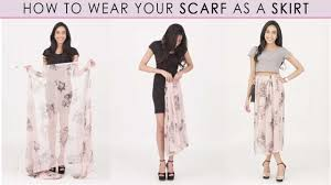 ways to wear short scarf for a more fashionable look how to wear a scarf style trick youtube