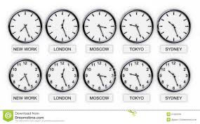 Time Zone Map World Clock by World Time Zone Wall Clock Stock Images Image 23047194