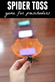 toddler approved spider toss game for preschoolers