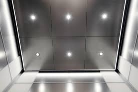 Downlight Wall Washer Elevator Ceiling In Stainless Steel With Seastone Finish Led