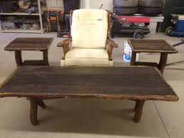 Coffee Tables Sets Lovable Rustic End Tables And Coffee Tables 15 Must See Rustic End