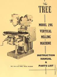 manual clausing kondia mill tree 2uv vertical milling machine instruction u0026 parts manual