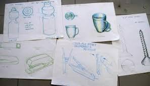 observational drawing u2013 lamp exploration u2013 design drawer