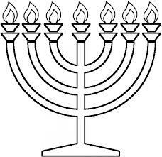 menorah coloring page menorah with seven candles coloring page