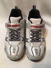 boys size 3 light up shoes star wars storm trooper velcro light up tennis shoes sneakers boys
