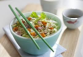 cuisiner le chou chinois salade de chou chinois jambon mimolette recette interfel les