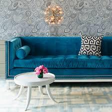 lampert sofa with nickel nailhead trim modern furniture