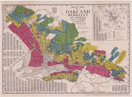 Bay Area Map Redlining California 1936 1939 Bay Area