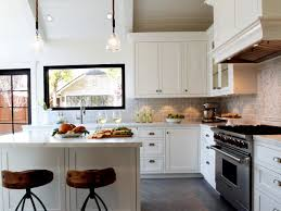 farmhouse kitchen design ideas white spray paint melamine island
