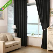 Washable Curtains Black Blockout Window Curtains Pure Fabric Washable 100 Blackout
