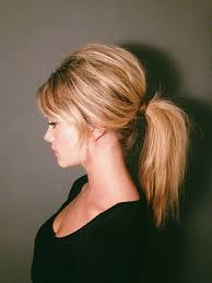 layer hair with ponytail at crown 60s brigitte bardot inspired ponytail tutorial relaxed