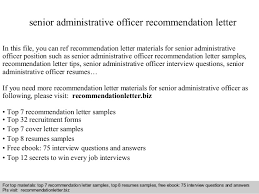 resume format administrative officers exam solutions c300 senior administrative officer recommendation letter