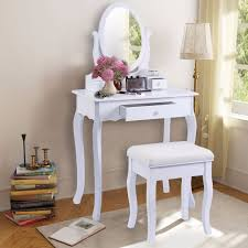 contemporary white bedroom vanity set table drawer bench golpus white vanity table jewelry makeup desk and bench dresser