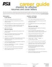 Resume Checklist Ced 250 Career Development Asu Page 1 Course Hero