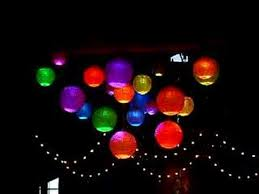 Paper Lantern Chandelier Led Paper Lantern Chandelier Youtube