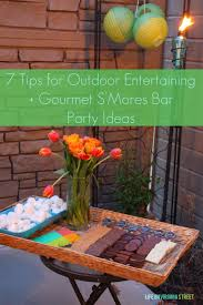 backyard party food ideas gourmet s u0027mores bar ideas u0026 7 tips for outdoor entertaining