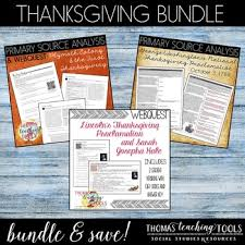 thanksgiving bundle primary sources and webquests by