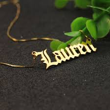 customized name necklace online shop wholesale solid silver font customized