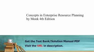 practice test bank for concepts in enterprise resource planning by