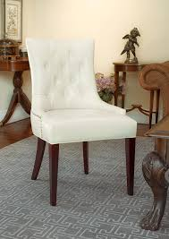 Cream Leather Club Chair Amazon Com Safavieh Mercer Collection Erica Button Tufted Side