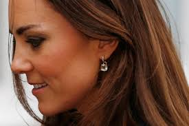 kate middleton diamond earrings kate middleton radiant in royal blue at school opening