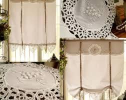 Tie Up Window Curtains Tie Up Valance Etsy