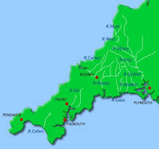 map n rivers cornwall map ღ n cornwall maps