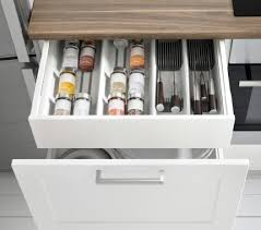 ikea küche schublade geöffneter metod unterschrank mit 2 schubladen in weiß mit grytnäs