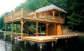 boat house boat dock sunbathing deck and entertainment design