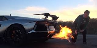 Lamborghini Aventador Exhaust - this is a lamborghini cooking a turkey with its exhaust video