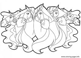 horseland horse girls coloring pages printable