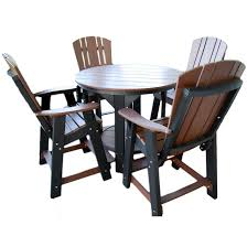 Patio Furniture Pub Table Sets - wildridge outdoor balcony pub table set rocking furniture