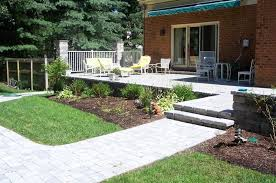 Raised Paver Patio Outdoor Garden Alluring Raised Paver Patio Design With White