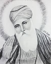 live your hobbies art portrait of shri guru nanak dev ji