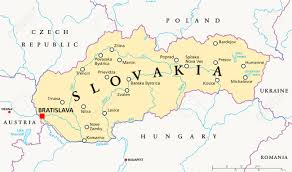 Eastern Europe Political Map by Slovakia Political Map With Capital Bratislava Royalty Free