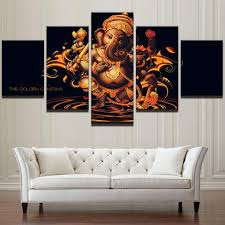 hindu decorations for home ganapati hindu framed print 5 pieces canvas wall home decor