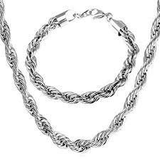 men necklace lengths images U7 jewelry men 9mm stainless steel twisted rope chain necklace jpg