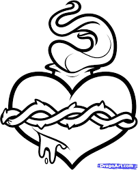 how to draw a sacred heart step by step tattoos pop culture