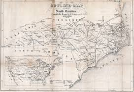 Map Of Tennessee And North Carolina by Map Of North Carolina Railroads 1854