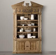 Restoration Hardware Armoire Entablature Bookcase Cabinet For The Home Pinterest