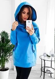 plain light blue hoodie light blue plain pockets zipper hooded casual pullover sweatshirt