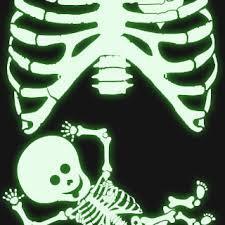 Glow In The Dark Skeleton Costume Glow In The Dark Pregnant Baby Skeleton Rib Cage Maternity